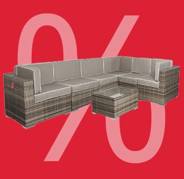 lagerabverkauf gartenloungem bel aus polyrattan edelstahl. Black Bedroom Furniture Sets. Home Design Ideas