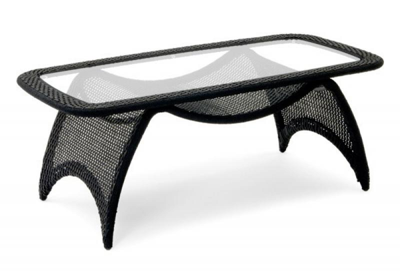 landmann garvida rattan tisch venezia 120 x 60 cm schwarz. Black Bedroom Furniture Sets. Home Design Ideas