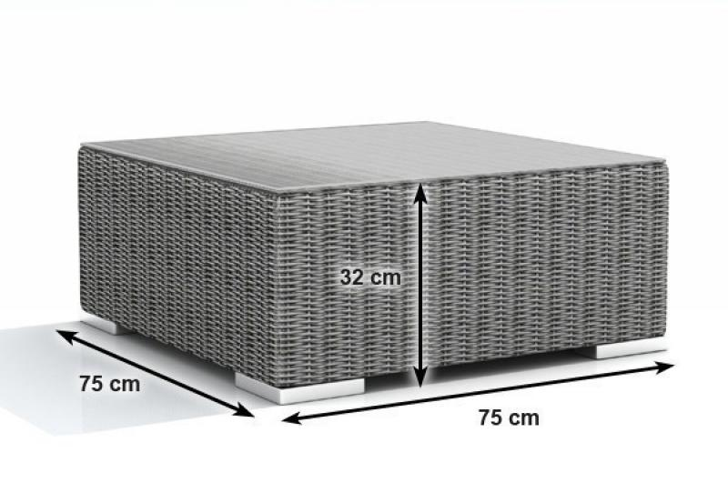 Rattan XXL Loungemöbel Set Espace 3 - 4-teilig - Farbe: grau braun meliert
