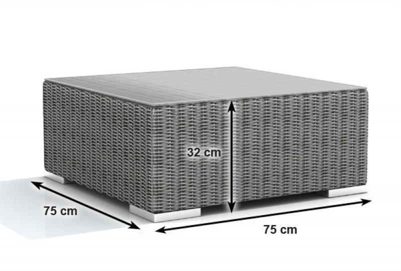 Rattan XXL Loungemöbel Set Espace 4 - 4-teilig - Farbe: grau braun meliert