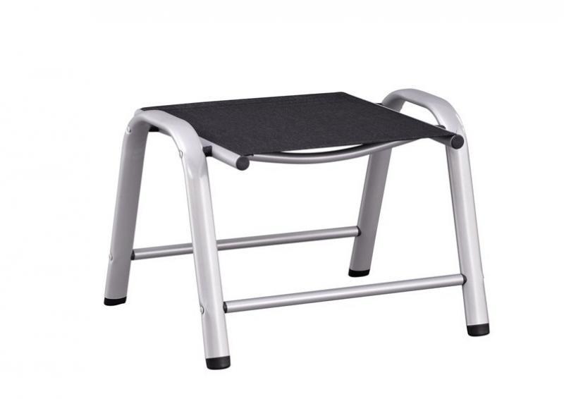 kettler cirrus hocker silber anthrazit. Black Bedroom Furniture Sets. Home Design Ideas