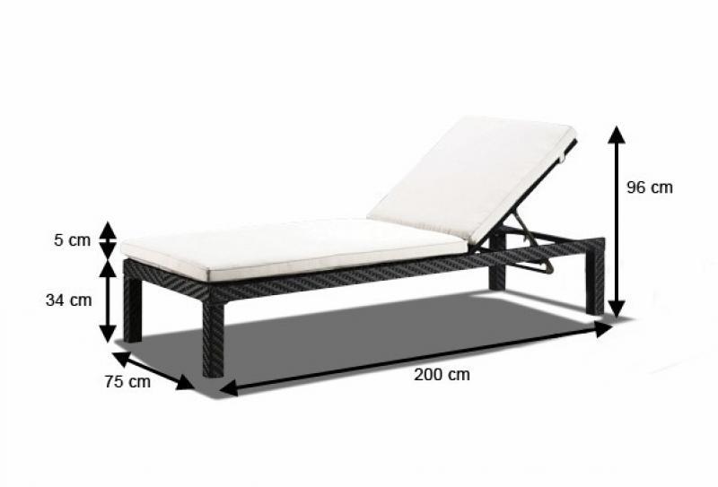 rattan liege linea gartenliege farbe schwarz. Black Bedroom Furniture Sets. Home Design Ideas