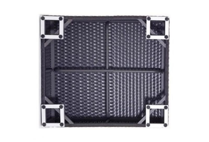 Rattan XXL Loungemöbel Einzelelement Espace Luxus Loungetisch B 75x75cm - Farbe: Dunkelbraun