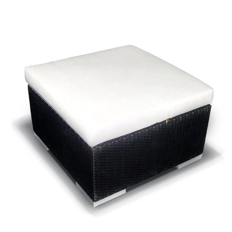 Rattan Loungeelement Tisch Siesta-DUE Tisch - Farbe: Schwarz