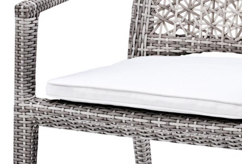 Landmann Rattan Sessel Fiorana mit Armlehne - Farbe: Silk White