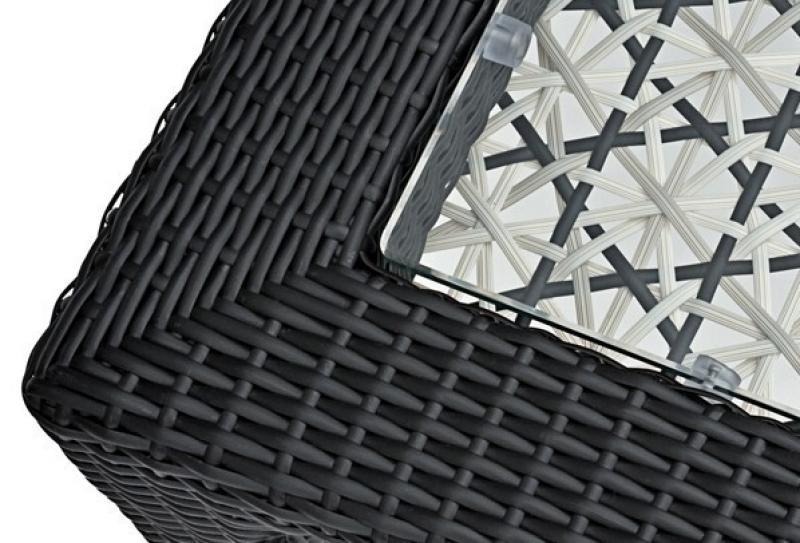 Landmann Rattan Essgruppe Fiorana 3 - 4 Sessel - Farbe: Mocca / Silk White