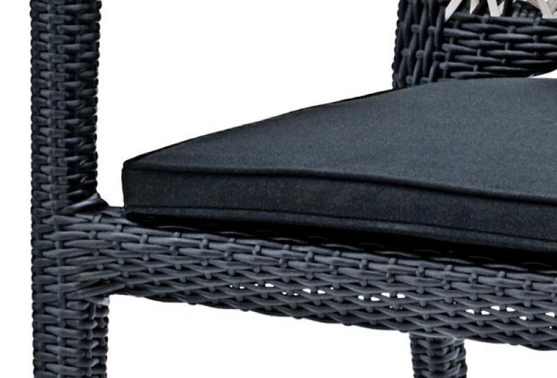 Landmann Rattan Essgruppe Fiorana 3 - 4 Sessel - Farbe: Silk White