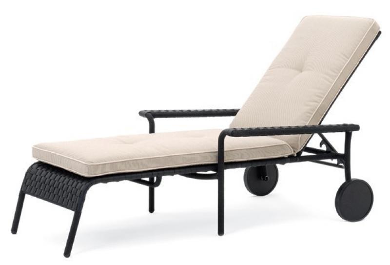 landmann rattan polster minerva polsterauflage f r rollenliege farbe beige. Black Bedroom Furniture Sets. Home Design Ideas