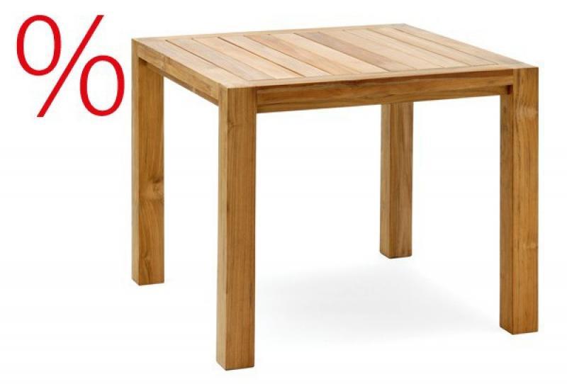 SONDERPOSTEN: Landmann Rattan Tisch Astena Teakholz Tisch 90x90cm - Farbe: Teak