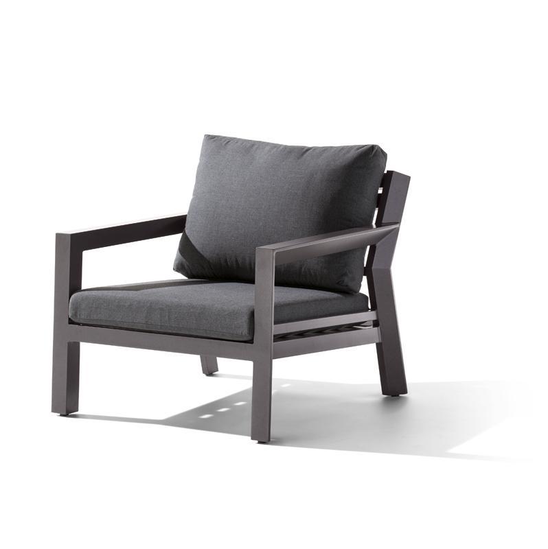 Sieger Gartenmöbel Brisbane eisengrau-grau 1-Sitzer - Loungemöbel