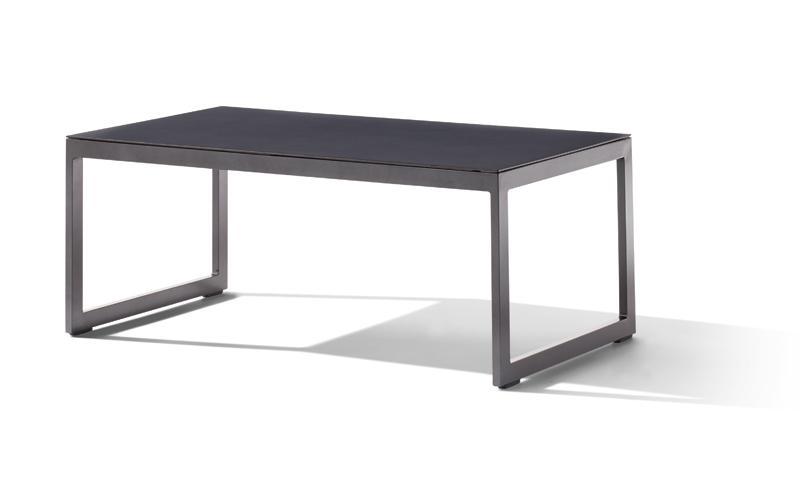 Sieger Gartenmöbel  Sydney eisengrau-grau Loungetisch Maße ca. 110x60x44 cm - Loungemöbel