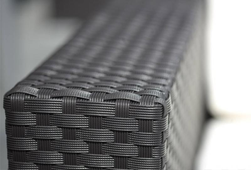 Rattan XXL Loungemöbel Einzelelement Espace Luxus Sofa Mitte inkl. Kissen - Farbe: Dunkelbraun