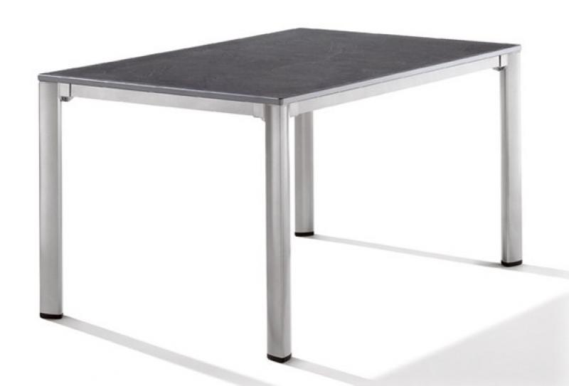 Sieger Exclusiv Tisch Puroplan Schiefer anthrazit 140x90cm - Gestell graphit