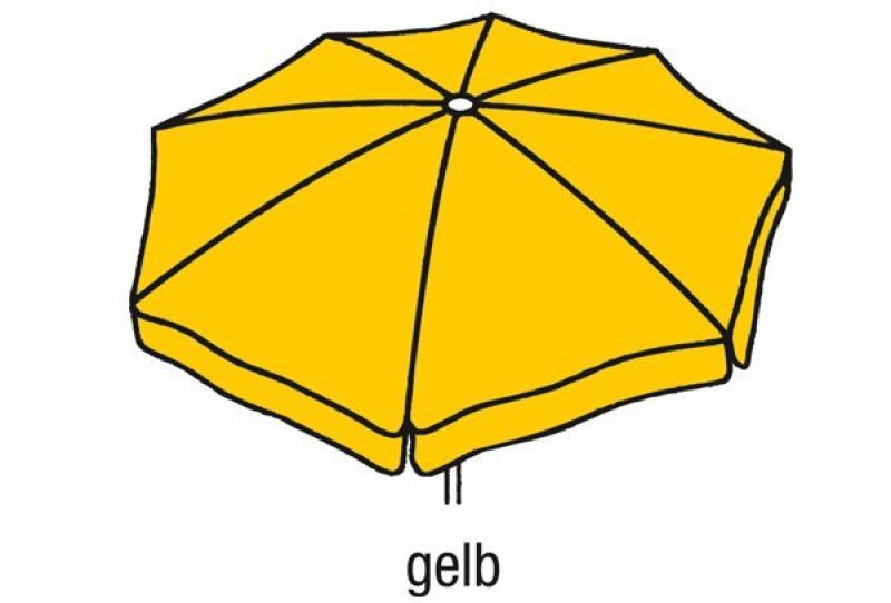 Best Großschirm Mallorca 300x300cm/8-tlg. gelb