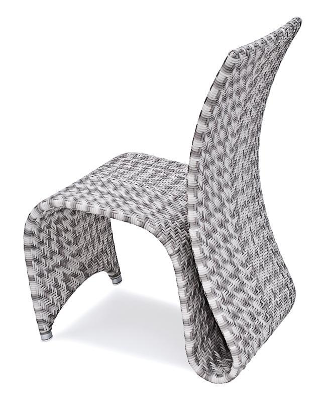 Landmann Rattan Sessel Fiorana zum Schwingen - Farbe: Silk White