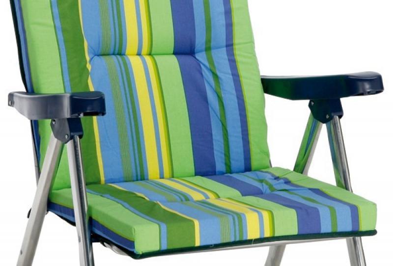 Best Aluminium Klappsessel Nizza silber/grün-blau
