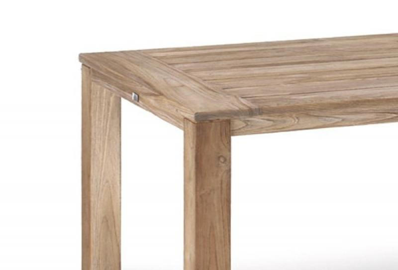 Best Teak-Tisch Moretti 160x90cm grey-wash