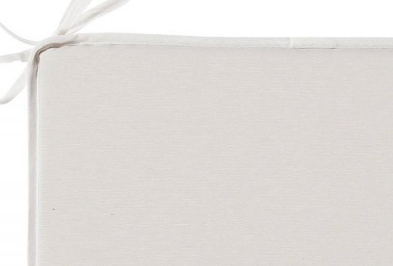 Best Sitzkissen mit Schlaufen 40 x 40 x 3cm Dessin Nr.: 1251 Farbe: creme/weiß