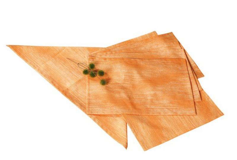Best Tischset Platzset 4-tlg. 48 x 32cm Dessin-Nr.: 1478 Farbe: orange