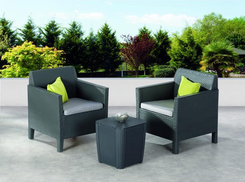 best balkon set amalfi 2 sessel inkl polster und. Black Bedroom Furniture Sets. Home Design Ideas