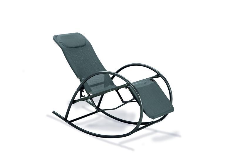 Best Relax-Schaukelstuhl Ancona verstellbar anthrazit/anthrazit
