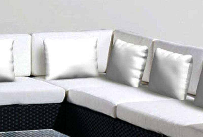 Polster Espace Luxus Rückenkissen 64 x 34 x 10cm incl. Bezug Farbe: cremeweiß