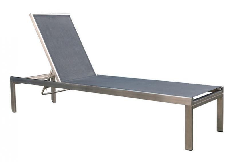edelstahl liege slin sonnenliege gartenliege incl wasserdichte schutzh lle farbe grau. Black Bedroom Furniture Sets. Home Design Ideas