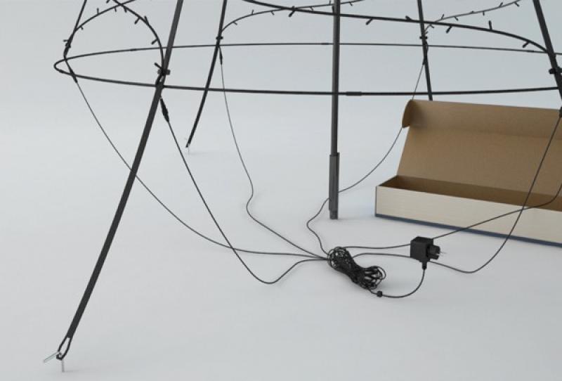 Premium LED-Weihnachtsbaum Fairybell Außen, 360-flammig, Höhe: 300 cm, warmweiß, Handverlesen
