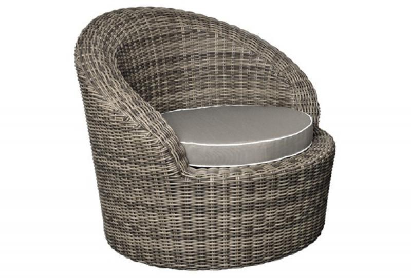 Lounge sessel rattan  Sessel Rollo Sessel inkl. Kissen - Farbe: braun-meliert