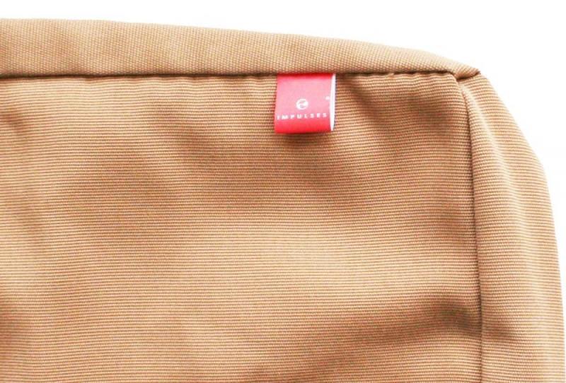 Kissenbezug Deko - Maße: 55 x 55 - Farbe: mokkabraun
