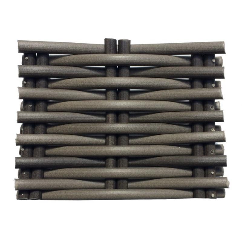 Sessel Rollo Flachsessel inkl. Kissen - Farbe: braun-meliert