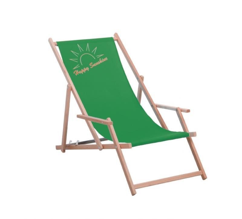 Best Holz-Liegestuhl Happy Sunshine grün
