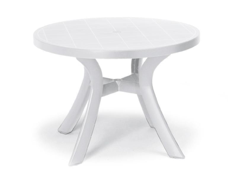Best Tisch Kansas rund 100cm Ø weiß