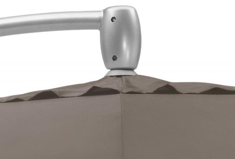 kettler sonnenschirm ampelschirm o 330 cm silber taupe With französischer balkon mit kettler sonnenschirm 330