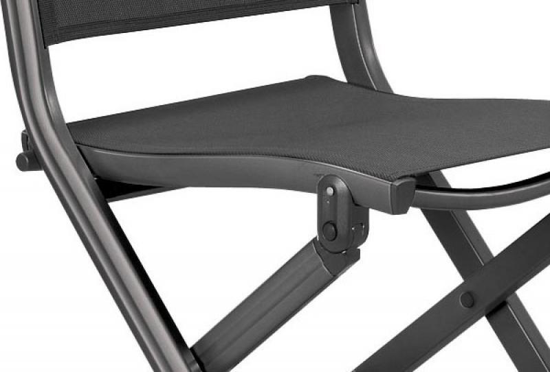 kettler basic plus klappstuhl f r balkon anthrazit anthrazit. Black Bedroom Furniture Sets. Home Design Ideas