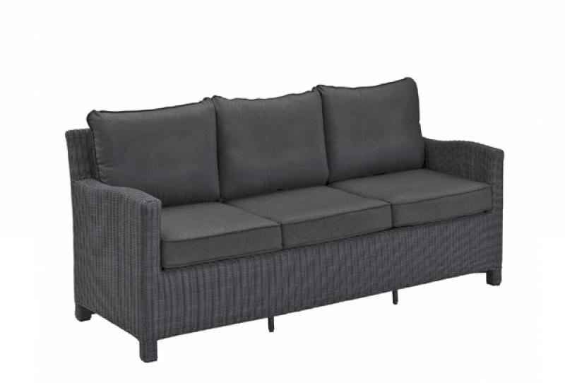 Kettler Casual Dining-3er-Couch Palma, Farbe olivegrey