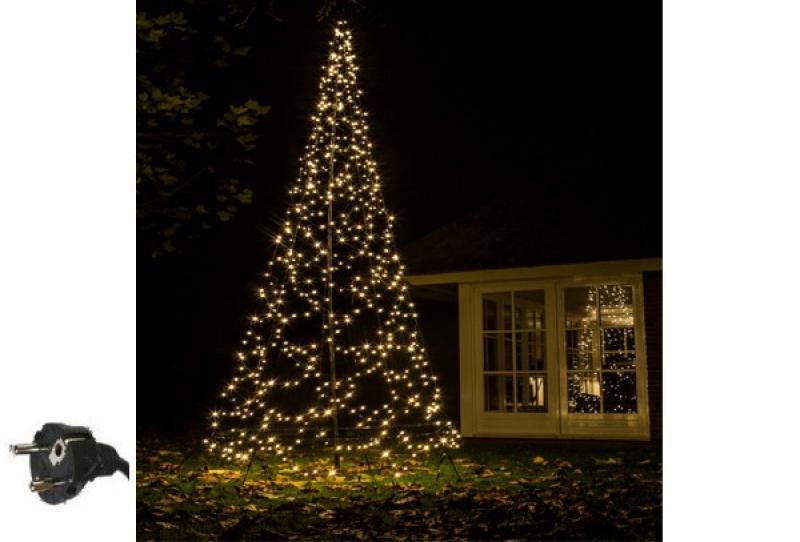 Fairybell LED Weihnachtsbaum außen - christmas tree - Maße 420 x 150 cm - 400 LED-Lampen: warmweiß