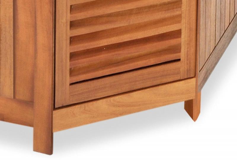 landmann belardo akazienholz eckschrank mit granitplatte 84x84x90 5cm farbe schwarz akazie. Black Bedroom Furniture Sets. Home Design Ideas