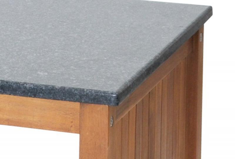 Landmann belardo akazienholz schrank mit granitplatte for Schrank 80 x 80