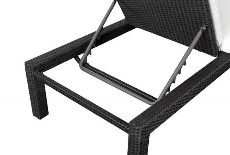 Rattan Liege Linea Gartenliege - Farbe: schwarz