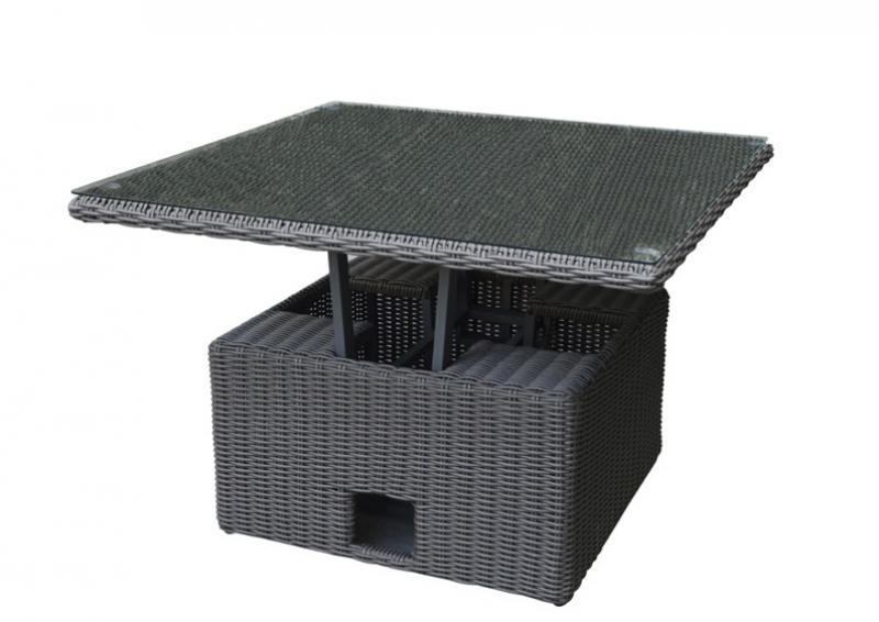 Gartenmobel Outlet Genderkingen Offnungszeiten :  höhenverstellbarer Tisch inkl Glasplatte  Farbe dunkelgraugrau