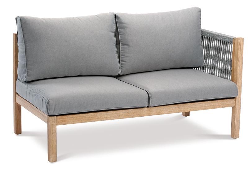 Best Lounge-Sets Lounge-Gruppe Madagaskar 5-tlg.- Eukaltyptus/Gurt - 288x218 cm
