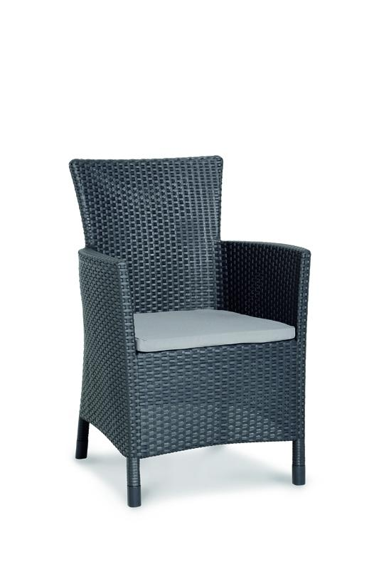 best 9 tlg dining sessel napoli tisch genua graphit hellgrau. Black Bedroom Furniture Sets. Home Design Ideas