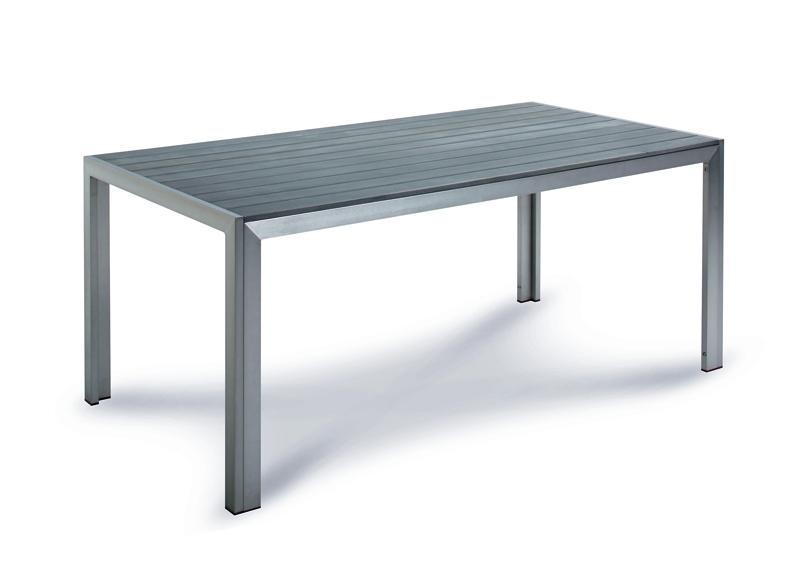 Best Tisch Seattle 180x90x76cm silber/anthrazit