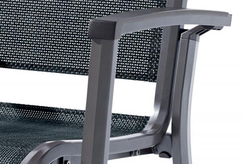 Sieger Stapelsessel Niederlehner CALVI - Farbe: eisengrau - silbergrau