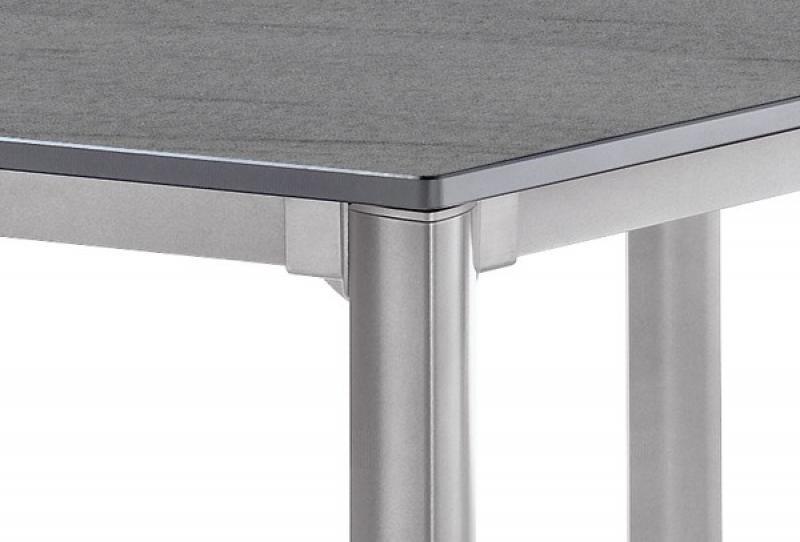 Trendy Sieger Exclusiv Tisch Puroplan Basaltino Grau Xcm Gestell Graphit  With Sieger Gartentisch