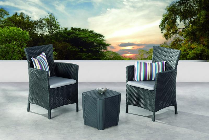 best balkon set napoli 2 sessel inkl polster und beistelltisch graphit. Black Bedroom Furniture Sets. Home Design Ideas