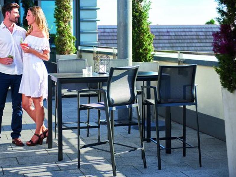 Sieger Gartenmöbel  Bozen Barset Tischgestell und Tischplatte Aluminium beschichtet Höhe ca. 96,5 cm