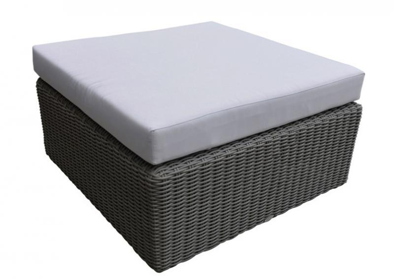 Rattan Loungegruppe Möbel Set 1 Turino - Farbe: dunkelgrau/grau