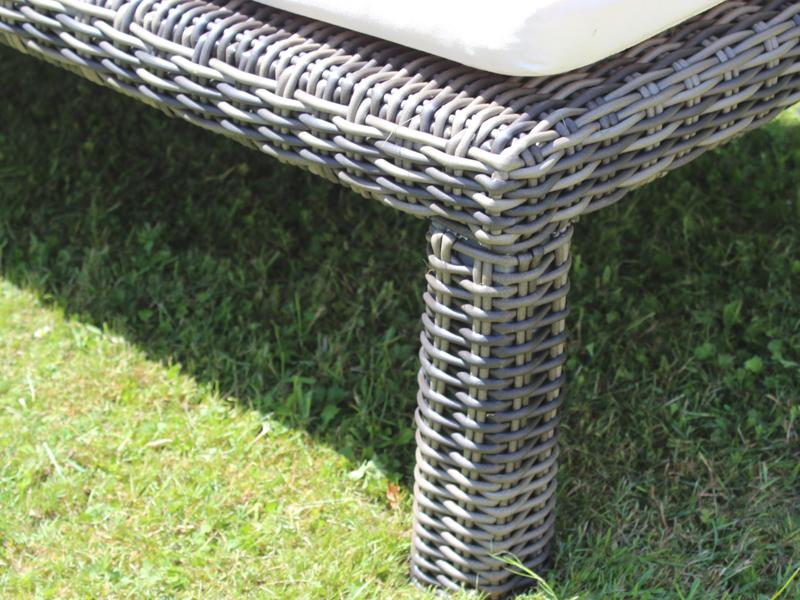 garden select polyrattan liege linea gartenliege farbe grau braun meliert. Black Bedroom Furniture Sets. Home Design Ideas
